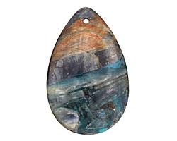 Kyanite (in resin) Flat Teardrop Pendant 30x47mm