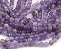 Dogtooth Amethyst (light) Faceted Round 4mm