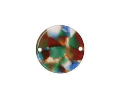 Zola Elements Lagoon Acetate Coin Link 20mm
