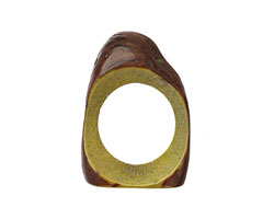 Tagua Nut Apple Open Slice (side drilled) 33-45x24-36mm