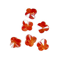 Poppy Faceted Butterfly 6x6mm