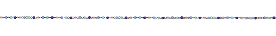 Tidal Wave Delicate Brass Seed Bead Chain