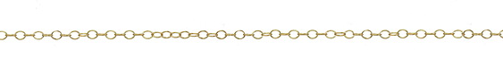 14K Gold Filled Small Oval Cable Chain