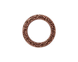 TierraCast Antique Copper (plated) Large Spiral Ring 19mm