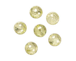 Lemon Ice Faceted Round 10mm