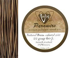 Vintaj Natural Brass Parawire 22 gauge, 60 feet