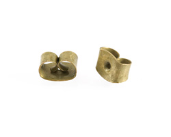 Antique Brass (plated) Post Earring Back
