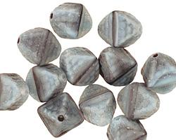 Czech Glass Storm Cloud Patterned Diamond 12x9mm
