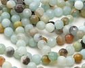 Black Gold Amazonite Faceted Round 6-7mm