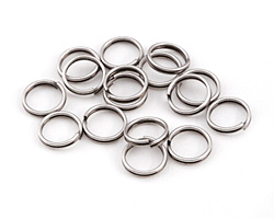 Antique Silver (plated) Split Jump Ring 8mm, 21 gauge