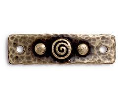 TierraCast Antique Brass (plated) Spiral & Rivets Link 40x11mm