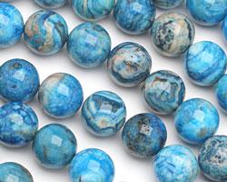 Larimar Blue Crazy Lace Round 16mm