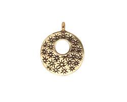 Saki Bronze Small Donut w/ Scattered Stars Charm 18mm