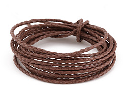Coffee Braided Cotton Bolo Cord 2mm