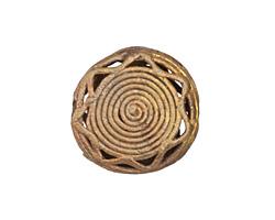 African Brass Sun Coin 24-25mm