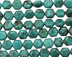 Chinese Turquoise Hexagon 6mm