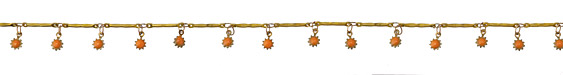 Zola Elements Brass Bar Chain w/ Coral Sunflower Charm