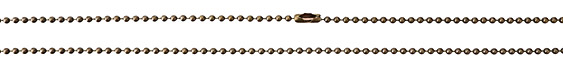 TierraCast Antique Brass (plated) Stainless Steel Finished Ball Chain 30""