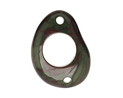 Tagua Nut Forest Green Open Slice Link 40-48x32-40mm