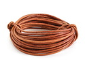 Natural Light Brown Round Leather Cord 2mm