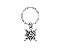 Zola Elements Antique Silver (plated) North Star w/ Crystal Charm 9.5x27mm