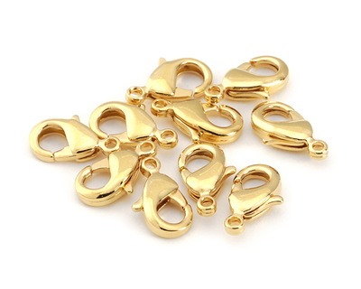 Gold (plated) Lobster Clasp 12x7mm