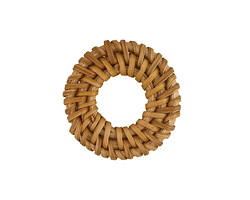 Natural Rattan-Style Woven Ring Focal 30-34mm