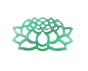 Zola Elements Emerald Marbled Acetate Openwork Lotus Focal 33x18mm