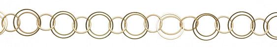 Satin Hamilton Gold (plated) Multiring Chain