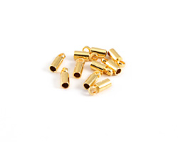 Gold (plated) Cord End w/ Loop 3mm