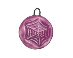 Gaea Ceramic Lilac Web Pendant 23-25x27-30mm