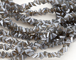 Storm Crystal Faceted Chevron 2x4mm