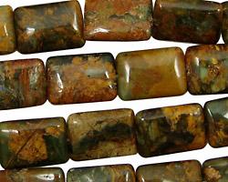 African Green Opal Thin Pillow 14x10mm