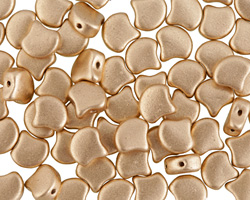 Matte Metallic Flax Matubo Ginkgo Leaf 7.5mm Seed Bead