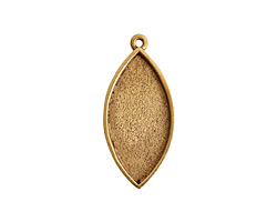 Nunn Design Antique Gold (plated) Navette Bezel Pendant 20x44mm