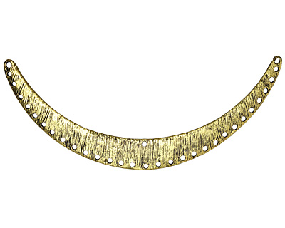 Zola Elements Antique Gold (plated) Thatched Arc Focal Link 110x50mm