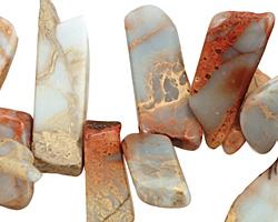 Impression Jasper Flat Freeform Drop 7-20x16-32mm