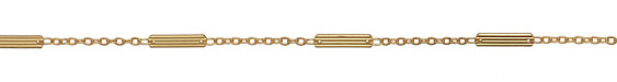 Satin Hamilton Gold (plated) Textured Bar & Cable Chain