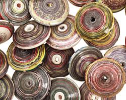 Paper Bead Saucer 6x15mm