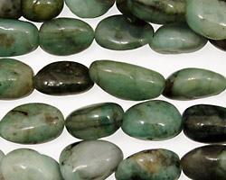 Emerald Tumbled Nugget 12-16x8-10mm