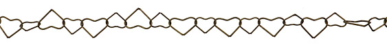Antique Brass (plated) Heart Link Chain