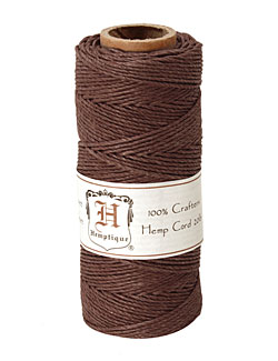 Dark Brown Hemp Twine 20 lb, 205 ft