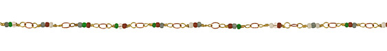 Zola Elements Winter Berry Seed Bead Link Brass Chain