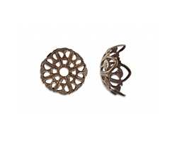 Vintaj Natural Brass Dapped Filigree 13mm