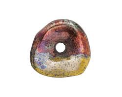 Greek Ceramic Raku Metallic Harvest Large Washer 24-29mm