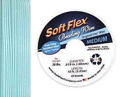 "Soft Flex Green Turquoise .019"" (Medium) 49 Strand Wire 10ft."