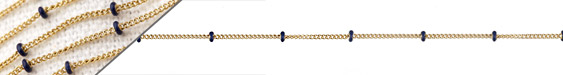 Gold (plated) Stainless Steel Navy Satellite Chain