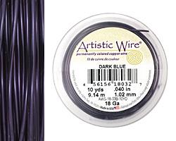 Artistic Wire Dark Blue 18 gauge, 10 yards