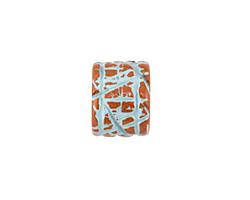 Greek Pueblo Ceramic Arctic Blue Textured Barrel 9-11x13mm
