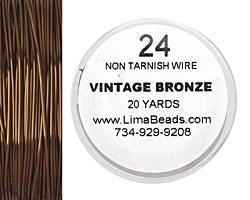Parawire Vintage Bronze 24 gauge, 20 yards